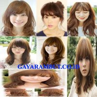 model rambut jepang See-Through Bangs