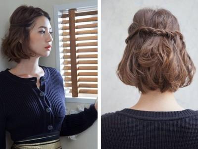 Cara Mengikat Rambut Yang Simple Dan Cantik - Gaya rambut pendek yg elegan