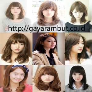Model Gaya Rambut Wanita Sebahu - Ala Korea