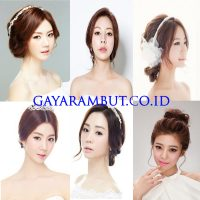 Model Rambut Wanita Korea - up do