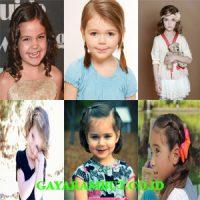 model rambut anak perempuan Wavy Medium Haircut