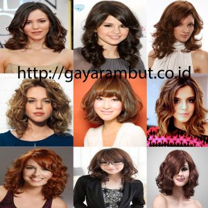 Model Gaya Rambut Wanita Sebahu - Bergelombang
