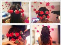 cara blow rambut sendiri dengan ikat rambut