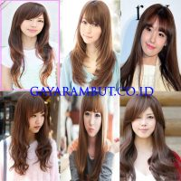 Model Rambut Wanita Korea - long bang