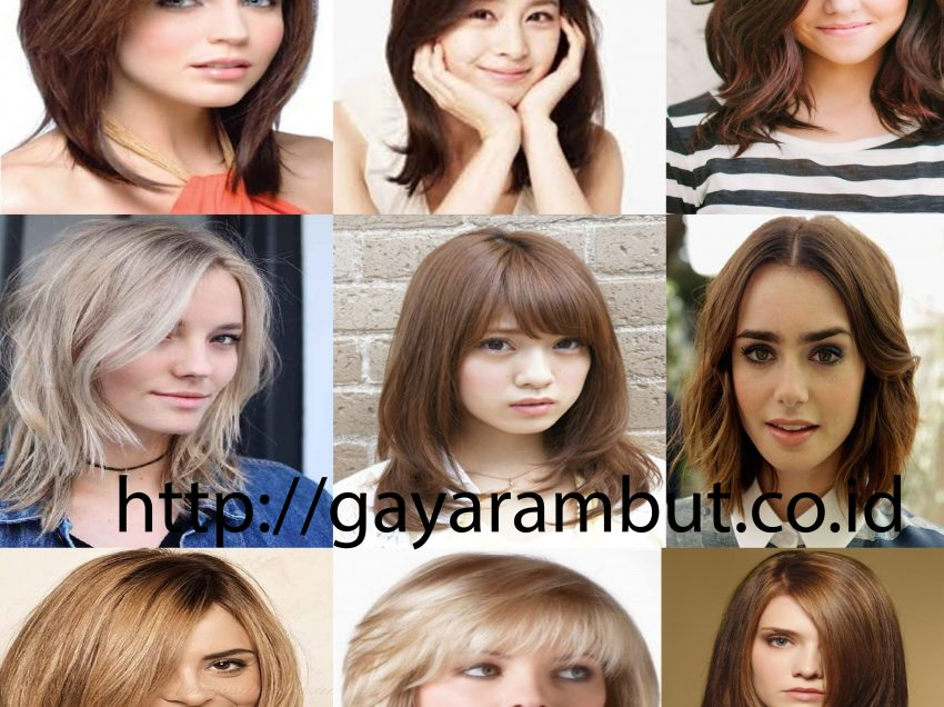80 Model Rambut Wanita Sebahu Ala Korea dan Berponi Lurus