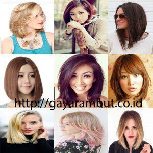Model Gaya Rambut Wanita Sebahu - Blonde Bob