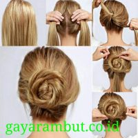Cara Menata Rambut Panjang - Membuat Sanggul Plintir Bulat