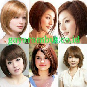 Model Rambut Pesta Untuk Wanita Wajah Bulat - Bob