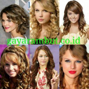 Model Rambut Pesta Untuk Wanita Wajah Bulat - Curly