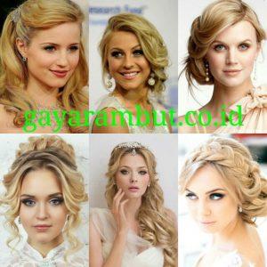 Model Rambut Pesta Untuk Wanita Wajah Bulat - Elegant