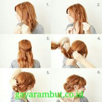 Cara Menata Rambut Panjang - Membuat Sanggul kepang Sisi