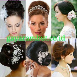 Model Rambut Pesta Untuk Wanita Wajah Bulat - Sanggul