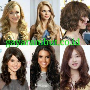 Model Rambut Pesta Untuk Wanita Wajah Bulat - Wave