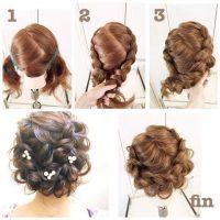 cara menata rambut dengan Model Rambut Pendek Kepang Zig-Zag