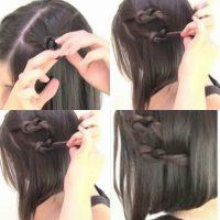 cara menata rambut pendek dengan Model Rambut Pendek Pita