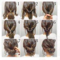 cara menata rambut pendek - Model Rambut Pendek Sanggul Gulung