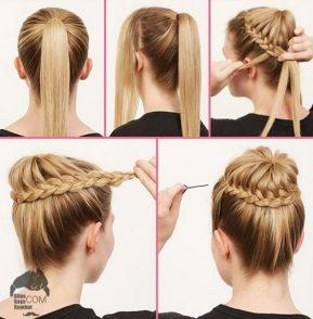 cara menyasak rambut model Kuncir Kuda