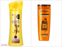 Sunsilk Nourishing Soft and Smooth & L'Oreal Paris Smooth Intense Caring Shampoo