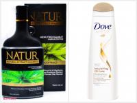 Natur Pencuci Rambut Alami &Dove Nourishing Oil Care