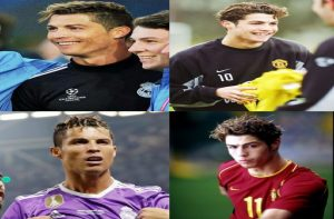 Model rambut Cristiano Ronaldo messy bang