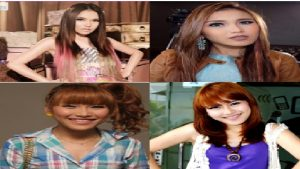 model rambut Ombre ayu ting-ting