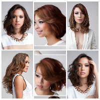 model rambut Fun blow permanent