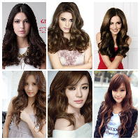 model rambut Glam blow permanent
