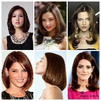 model rambut Sleek blow permanent