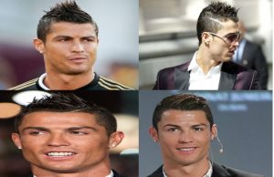 Model rambut Cristiano Ronaldo spike