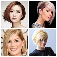 Rambut pendek asimetris untuk wanita