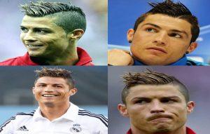 Model rambut Cristiano Ronaldo faux hawk
