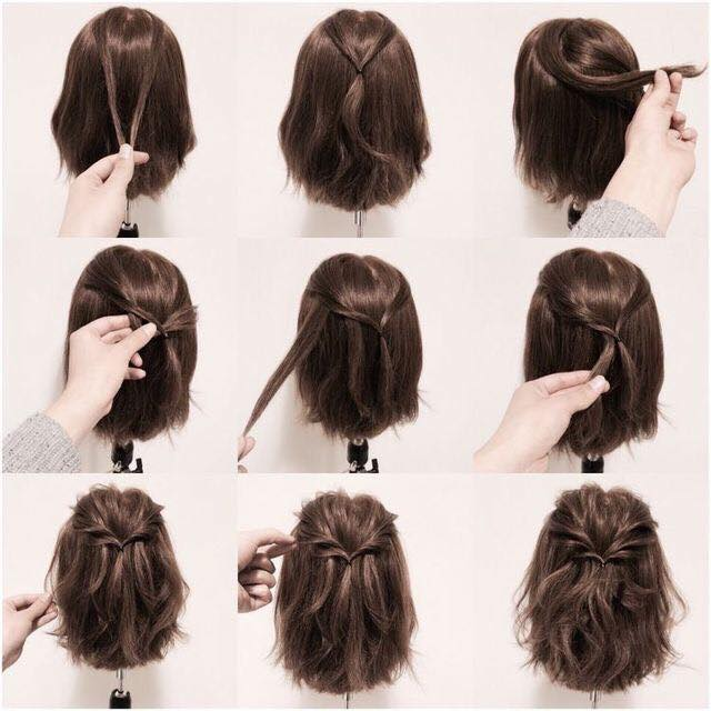 Mengikat Rambut Bob Pendek Yang Mudah