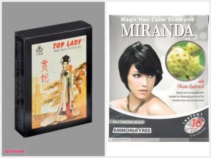 Top Lady Hair Dye & Miranda Hair Color Magic Shampoo
