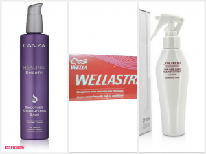 L'anza Healing Smooth Smoother Straightening Balm,Wella Wellastrate Cream Neutralizer with Built-in Conditioner,Shiseido The Hair Care Aqua Intensive Lotion